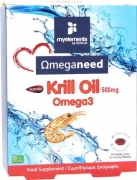 My Elements Ωmeganeed Krill Oil 500mg 30 softgels (βανίλια)