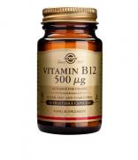 Solgar Vitamin B12 500μg (κοβαλαμίνη) 50 veg.caps
